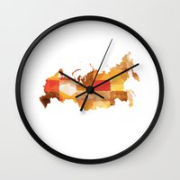 russia Wall Clocks featuring Russia by In Full Color