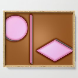 Pink lights Serving Tray