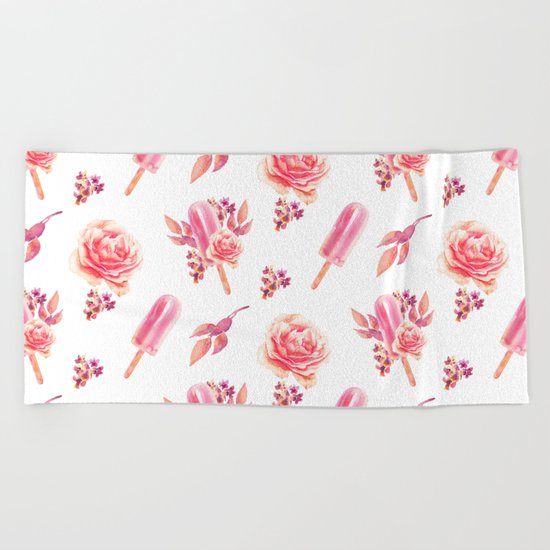 Floral Chill Beach Towel