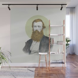 Blue Eyes, Red Beard, Gray Suit Wall Mural