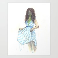 three of the possessed Art Prints featuring Regan (Possessed) by Monsters in Plaid
