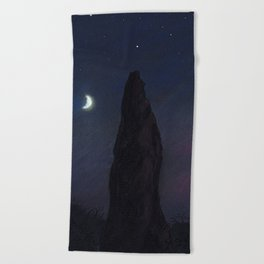 Half Moon Stone Beach Towel