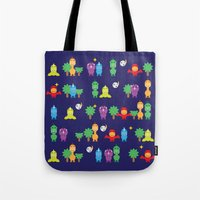 dinosaurs Tote Bags featuring Dinosaurs! by ShannonHatchNZ