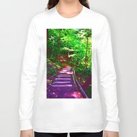wander Long Sleeve T-shirts featuring Wander by Lunar Eclipse