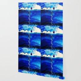 Tardis And Cloud Wallpaper