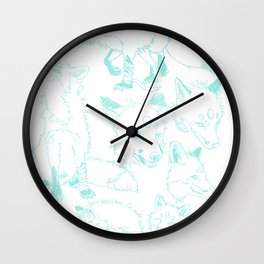 Lord Fox character design, pencil Wall Clock