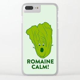 ROMAINE CALM Clear iPhone Case