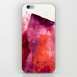 Blushing: a vibrant, minimal abstract in purple, pink, and red iPhone Skin