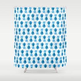 Cute Blue Squid Shower Curtain