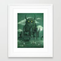 library Framed Art Prints featuring Age of the Giants  by Terry Fan