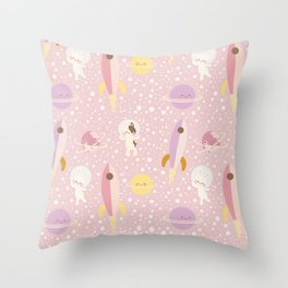 Space Adventure 1 Throw Pillow