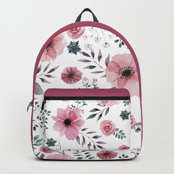 FLOWERS WATERCOLOR 16 Backpack