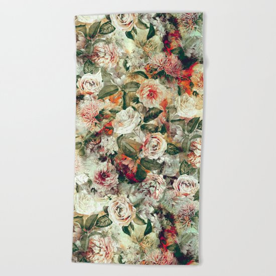 Floral Pattern RPE121 Beach Towel