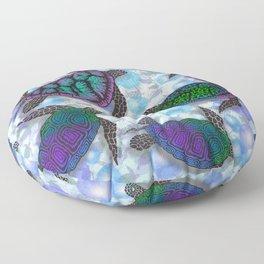 SEA OF TURTLES Floor Pillow
