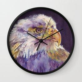 Bald eagle - the surveyor Wall Clock