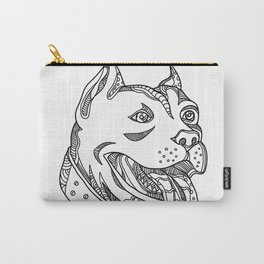 Pit Bull Head Doodle Art Carry-All Pouch