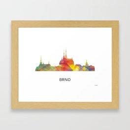 Brno Czech Republic skyline BW Framed Art Print