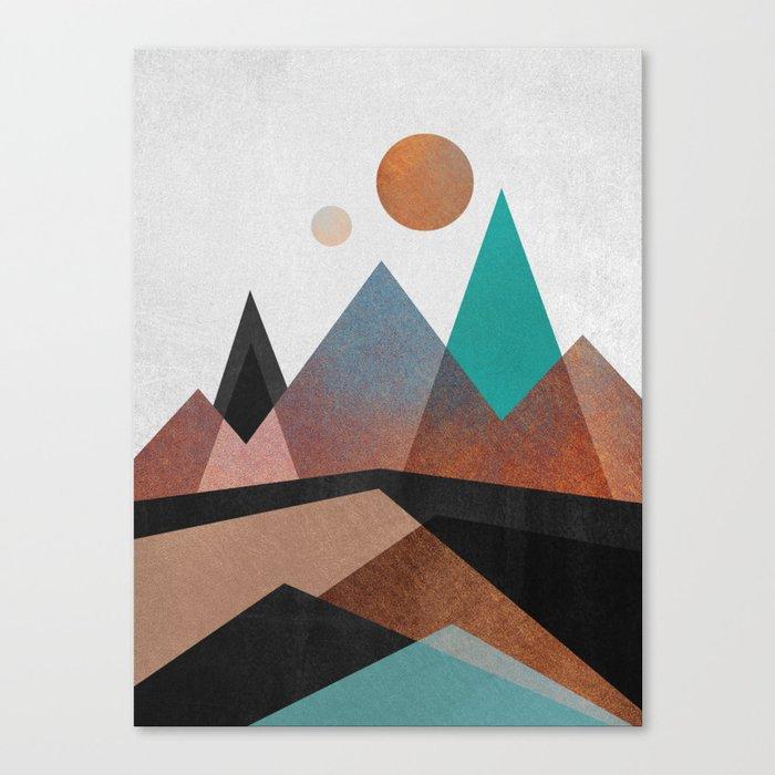 Copper Mountains Canvas Print