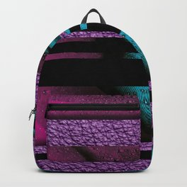 Water Drops on Feathers Textured & Black Stripes Backpack