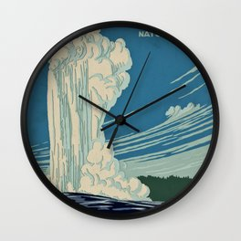 Yellowstone Works Progress Administration Wall Clock