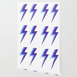Lightning Bolts - Purple and Blue Wallpaper