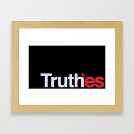 Truth in lies 3 Framed Art Print
