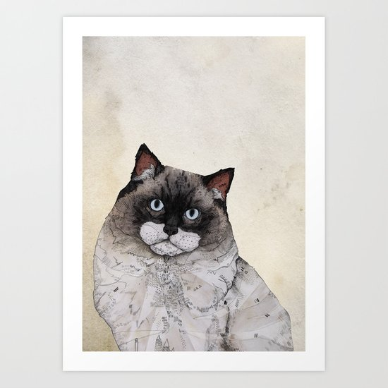 Mr. Ragdoll Cat Art Print
