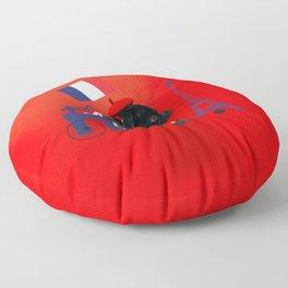 Proud Pug from Paris Floor Pillow
