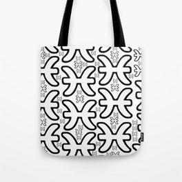 Pisces Zodiac doodle Tote Bag