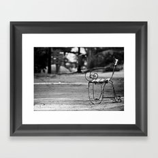 Solitary Park Bench Framed Art Print