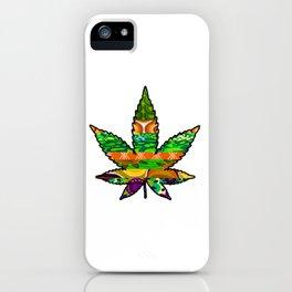 Retro Marijuana Leaf iPhone Case