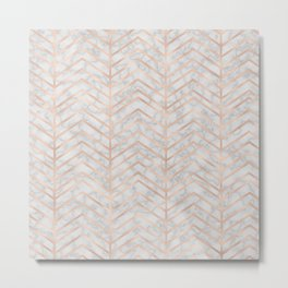 Marble With Zig Zag Metal Print