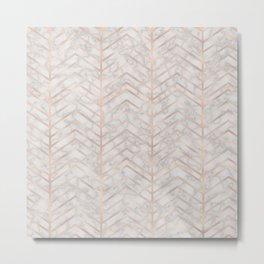 Marble With Zig Zag Metal Print