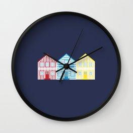 Costa Nova Houses Wall Clock