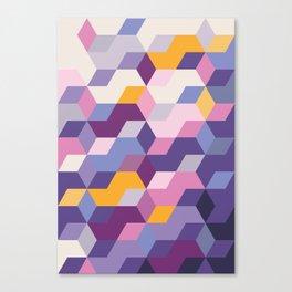 Violet Pattern Canvas Print