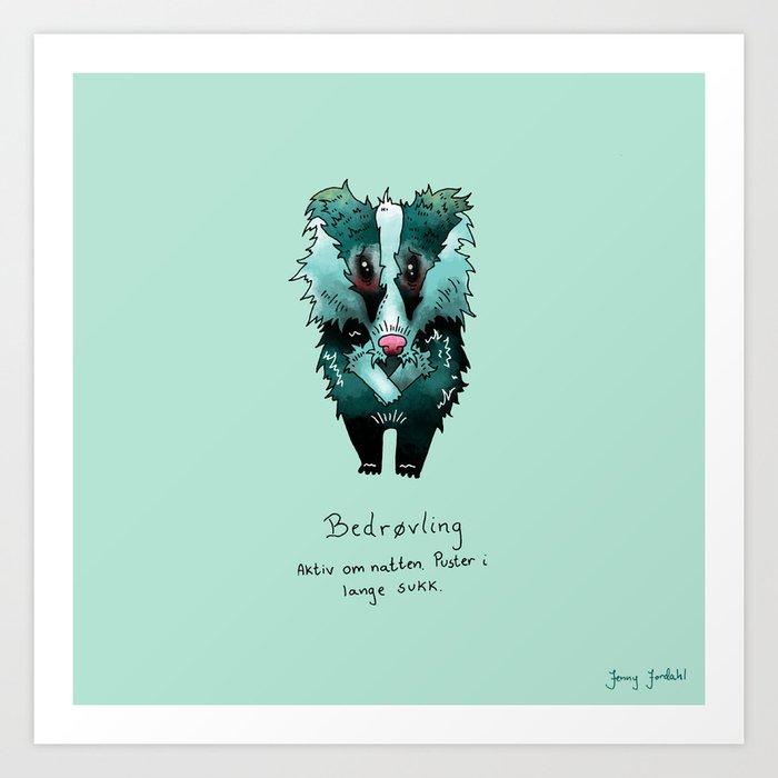 Triste dyr: Bedrøvling Art Print