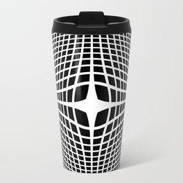 White On Black Convex Travel Mug