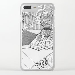 Cat Characters Adult Coloringbook Clear iPhone Case