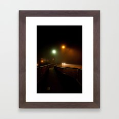 A Foggy Evening Framed Art Print