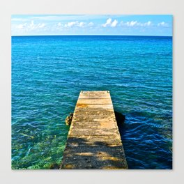 Dockside in Jamaica Canvas Print