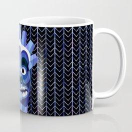 Hawaii Blue Tiki Mask Coffee Mug