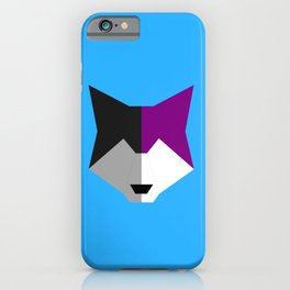 Asexual pride wolf iPhone Case