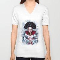 bjork V-neck T-shirts featuring BJORK by Denda Reloaded