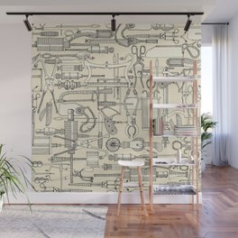fiendish incisions cream Wall Mural