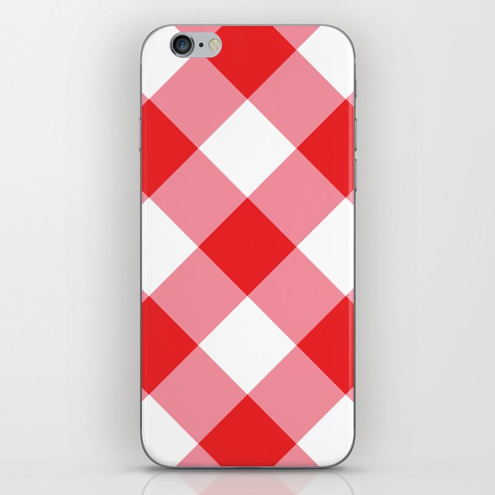 Gingham - Red iPhone Skin