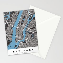 New York Map   Black   More Colors, Review My Collections Stationery Cards