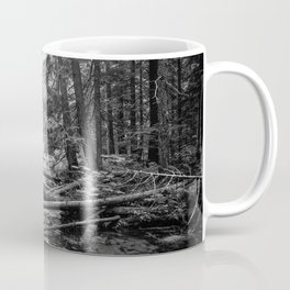 Enchanted Forest in black and white Coffee Mug