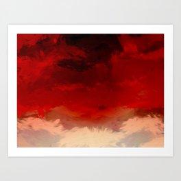 Flaming Skies Art Print