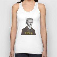 tesla Tank Tops featuring Tesla by DariyCraft