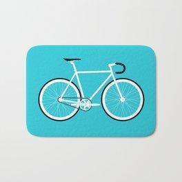 Turquoise Fixed Gear Road Bike Bath Mat